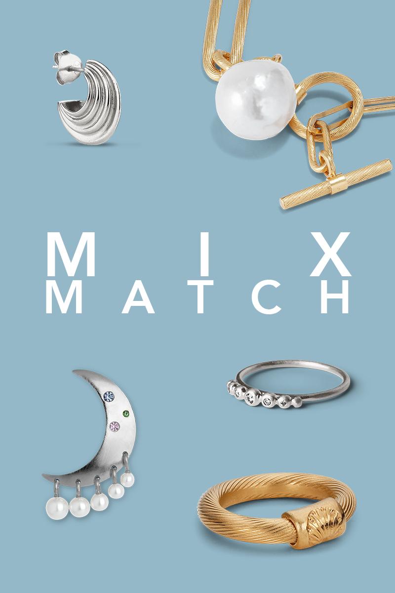 Mix and match Jane Kønig smykker